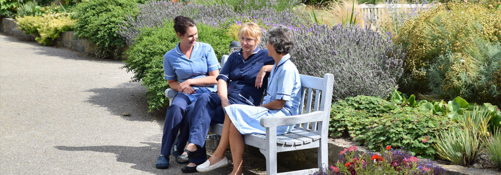 hospice and garden staff
